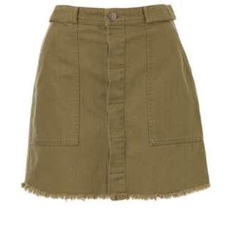 Sportsgirl Khaki Skirt