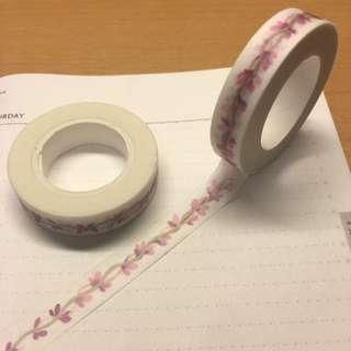 紫色小花紙膠帶