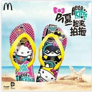 【珍藏限量全新現貨】麥當勞限量Hello Kitty人字拖/沙灘鞋/拖鞋/拍拖/情侶鞋