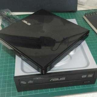ASUS華碩 SDR-08B1-U 外置 DVD Rom + DRW-24B5ST-14內置 DVD Rom