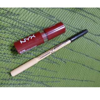 MENOW EYEBROW PENCIL AND CONCEALER DUO WITH NYX BUTTER LIPPIE