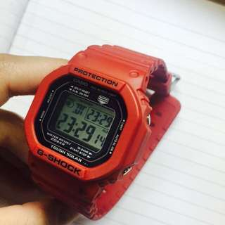 Casio GSHOCK 紅色 電子錶 正品