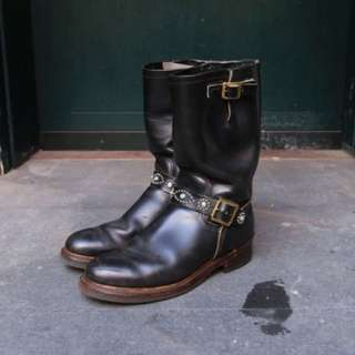 ‼️二手‼️美鞋‼️ Vintage HTC Irregular Engineer Boots US 9