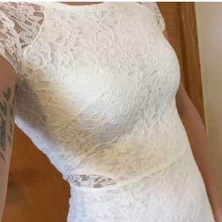 Garage White lace dress