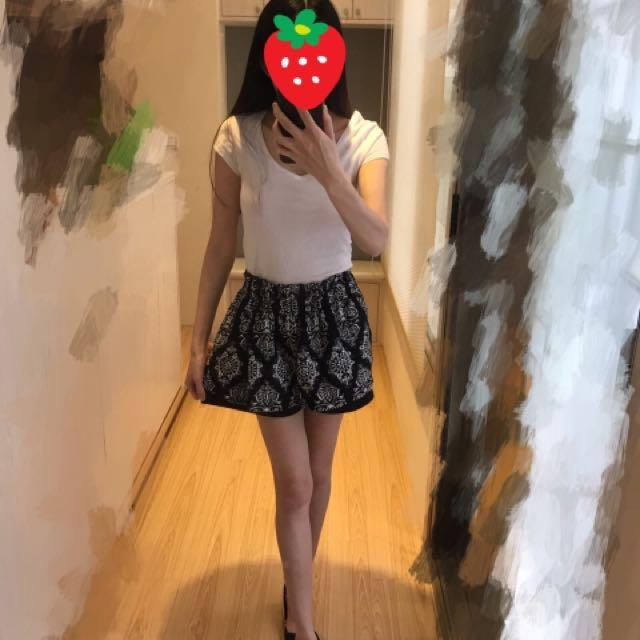 花苞鬆緊腰褲裙