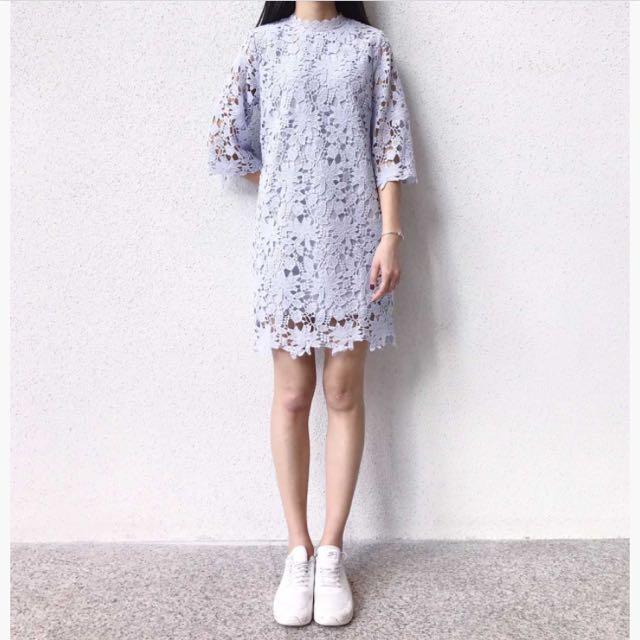 蕾絲花邊洋裝(紫)
