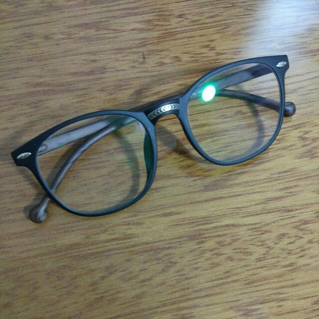 筆藝洋行-復古木紋粗框眼鏡裝飾眼鏡黑框眼鏡