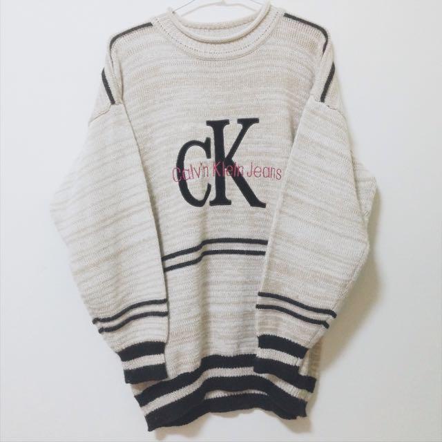 古著 復古 Ck毛衣 針織上衣