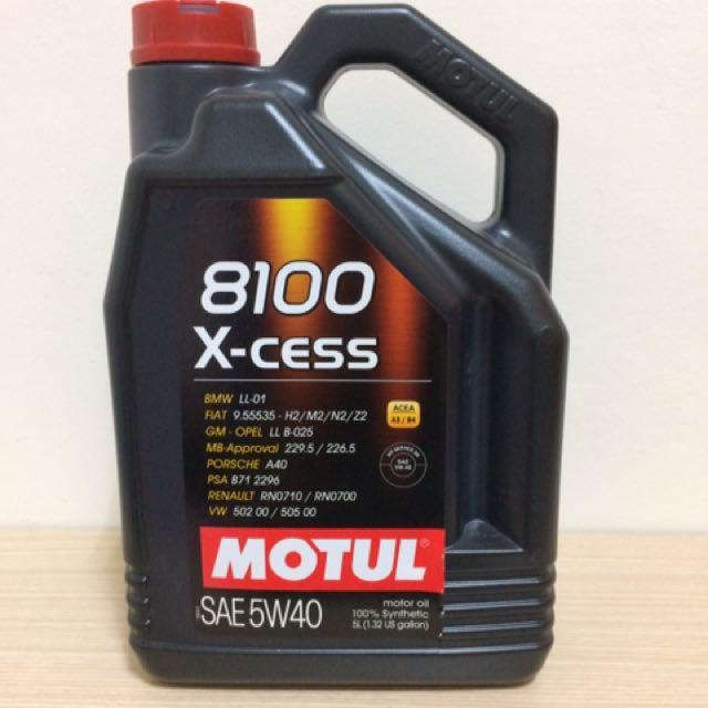 摩特 MOTUL 8100 X-cess 5W-40     產地:義大利
