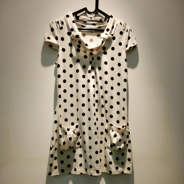 A Line Polkadot Dress
