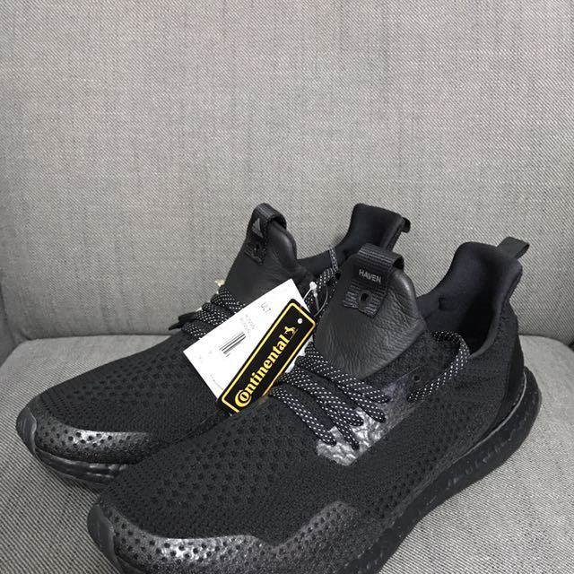 0cf927ee8d932 Adidas x Haven Ultra Boost Triple Black Uncaged