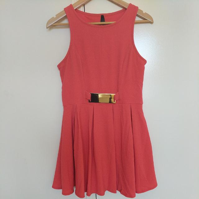 Ally Peach Short Dress Size 10