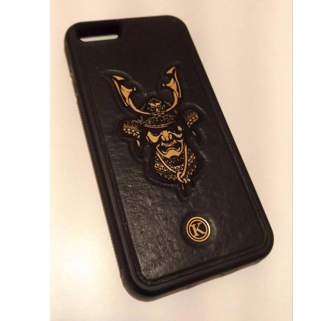 Apple IPhone 6 6s 加拿大品牌keyway 手機殼 皮底金武士 兩側防滑 絕美的黑金風