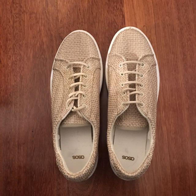 Asos Raffia Sneaker