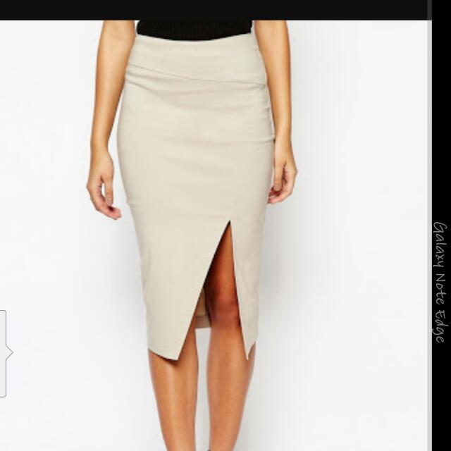 Asos Bengaline Midi Skirt Size 14