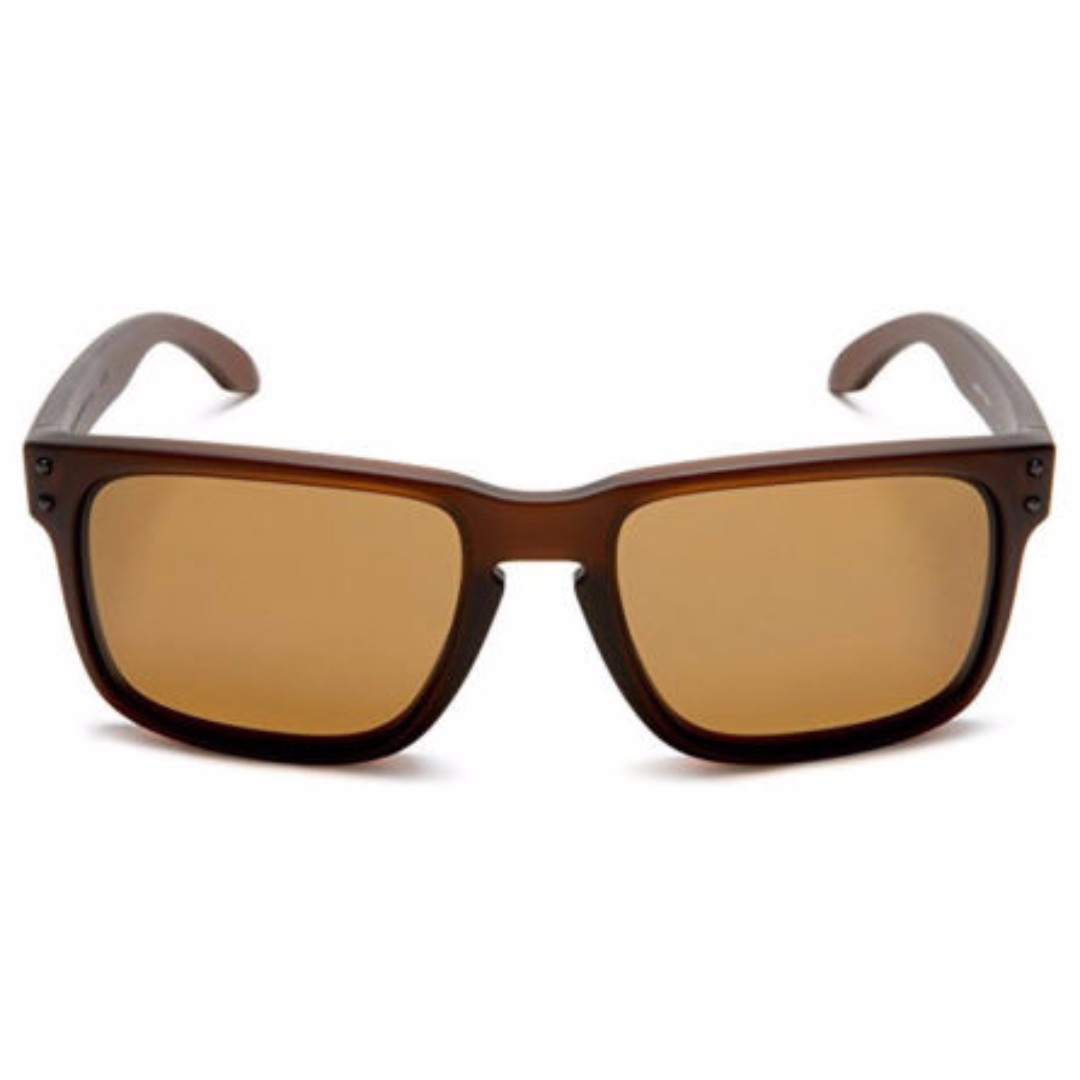 e4a420f65c32 Authentic Brand New in Box Oakley Holbrook Matte Rootbeer w Bronze  Polarized Sunglasses OO9102-03