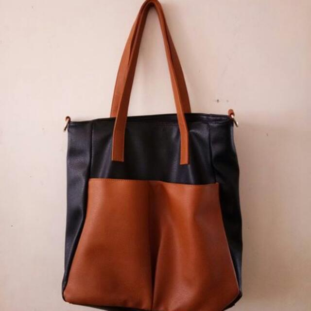 Big Black / Orange Bag