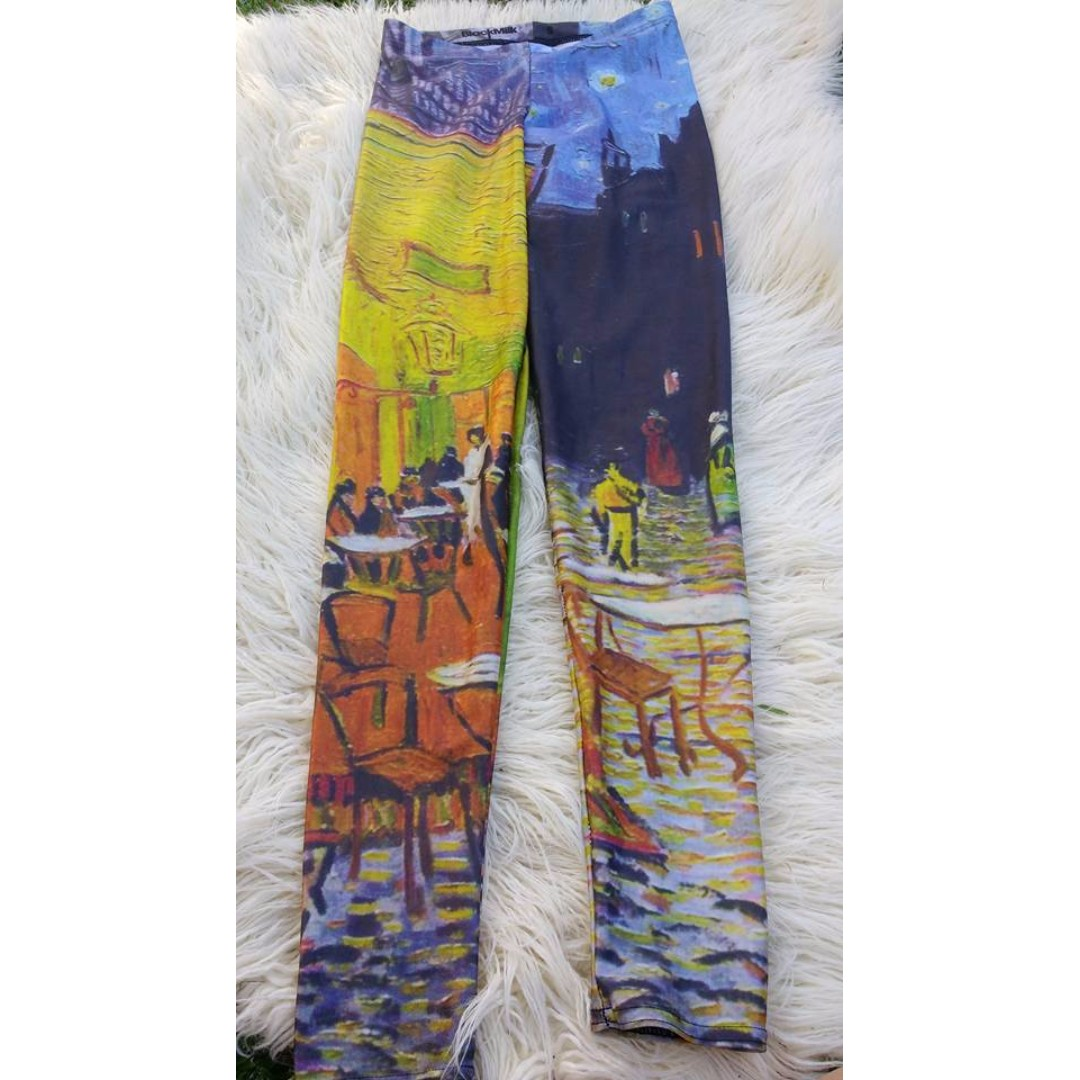 Black Milk Le Cafe Van Gogh Leggings -Rare/Discontinued Style-
