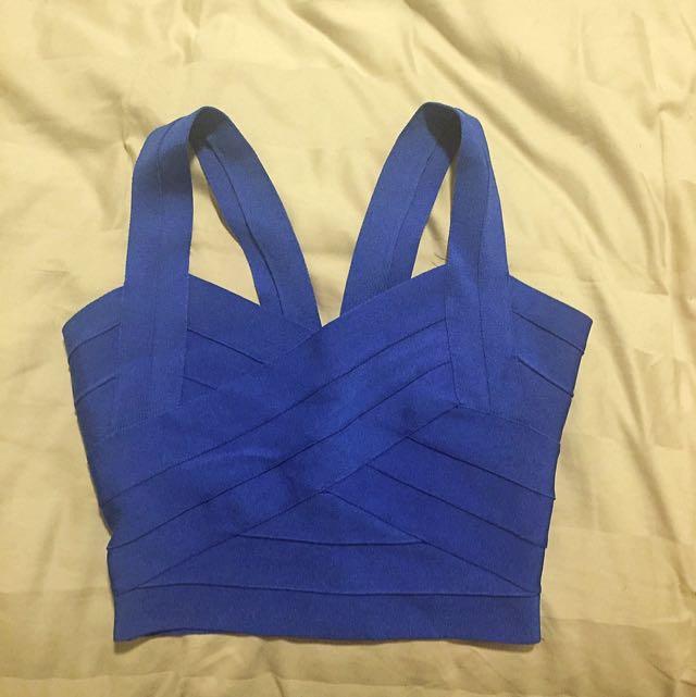 blue bandage top