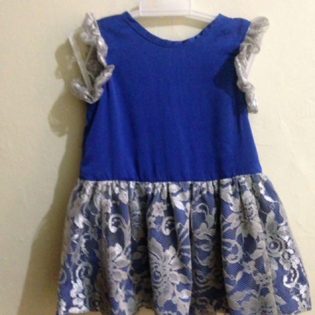 Blue Electroc Dress