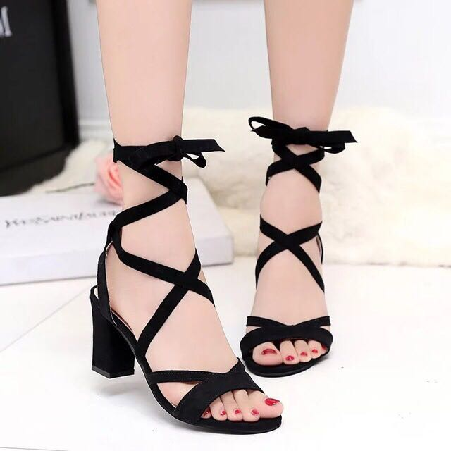 BRAND NEW Bohemian Gladiator Lace Up Heels Shoe