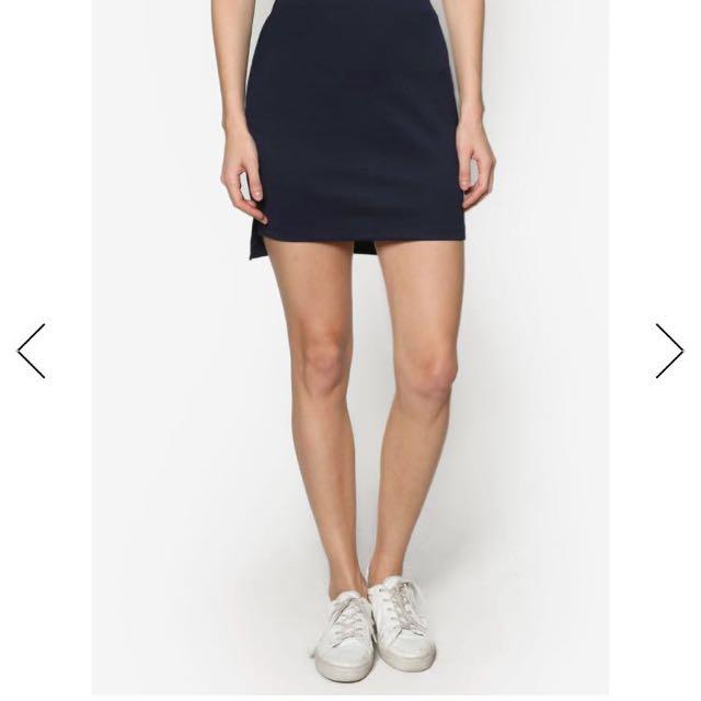 Zalora Basics Mini Skirt with Side Slits, Women's Fashion