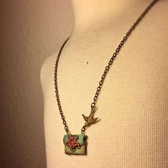 Brass Bird Necklace