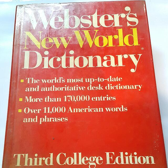 Kamus Inggris Webster New World Dictionary 3rd World Ed.