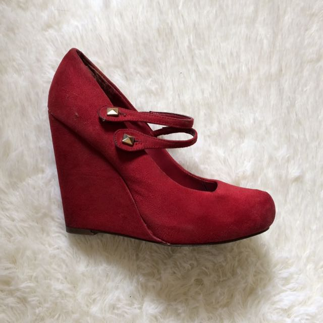 CALL IT SPRING Red Wedges Shoes