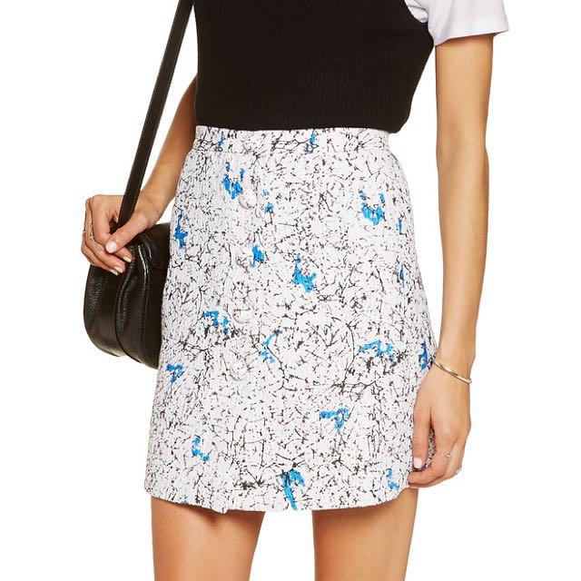 CARVEN sz 12 Printed Mini Skirt