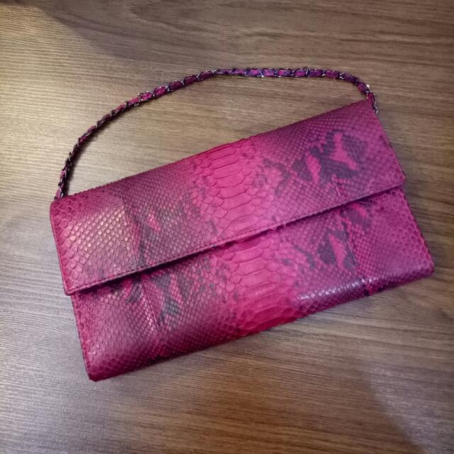 Clutch original snake leather