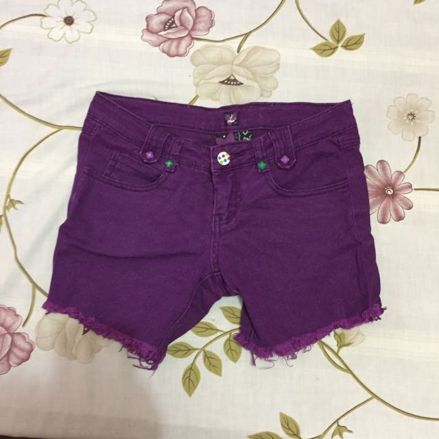 Crissa Purple Shorts