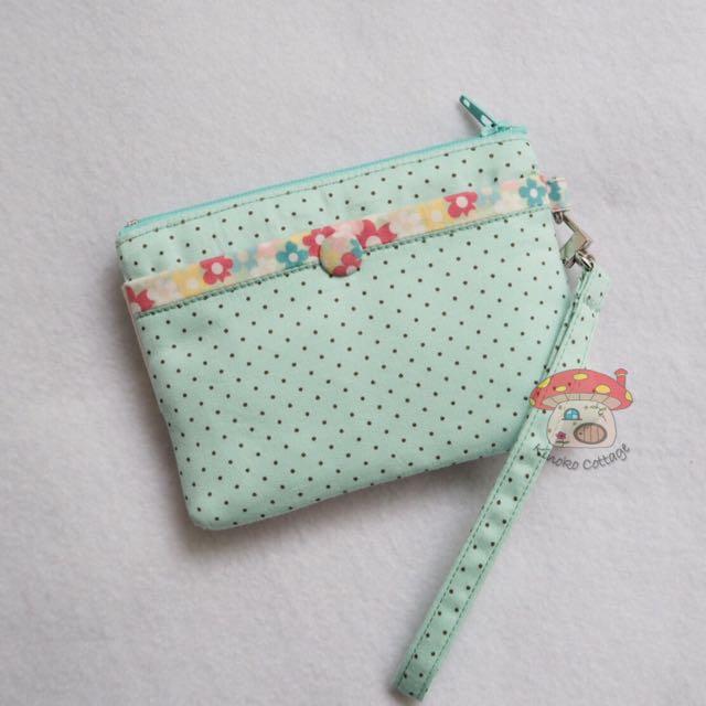 Pocket Tissue Cover Pouch Holder Ideal Teacher Gift Apple Design Handmade