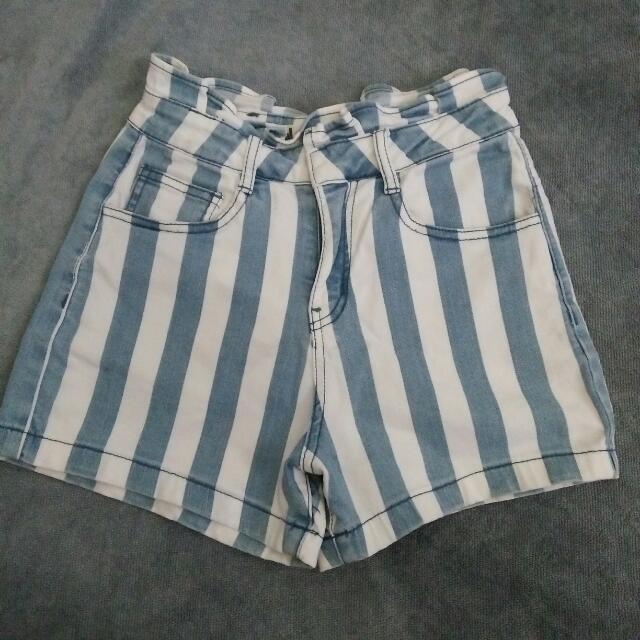 Denim Washed Highwaist Shorts