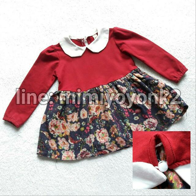 Dress Flora Merah