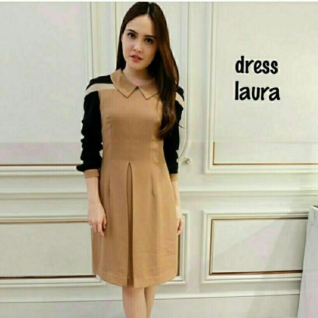 Dress laura scuba 103.000 Dress laura Bahan scuba GOOD Quality Fit to L