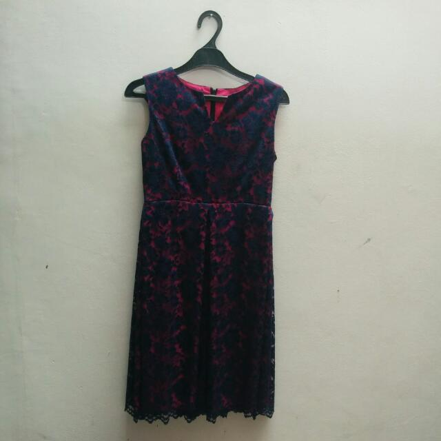 Dress Pesta Brokat