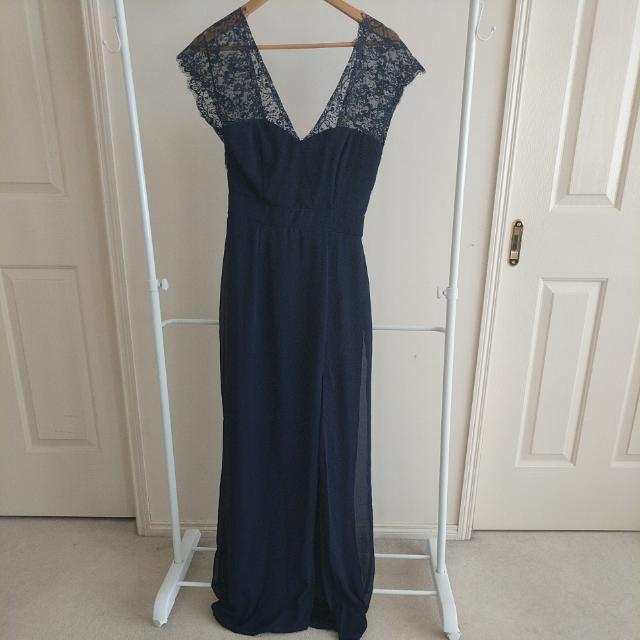 Elise Ryan Navy Blue Dress Size 12