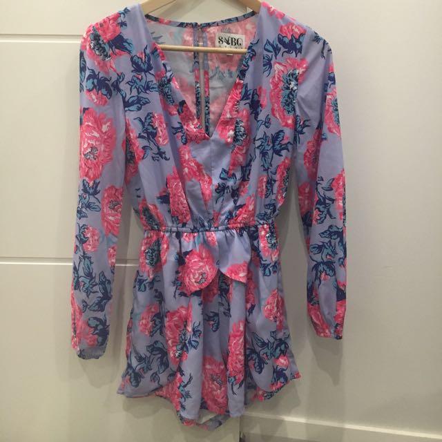 Floral Jumpsuit- Sabo Skirt