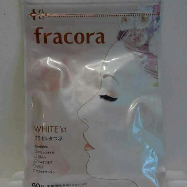 FRACORA WHITE'st PLACENTA CAPSULE  NEW PACKAGING