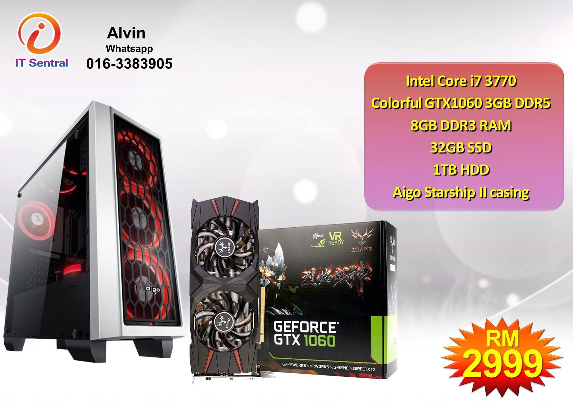 GTX1060 3GB DDR5 Core i7 gaming PC