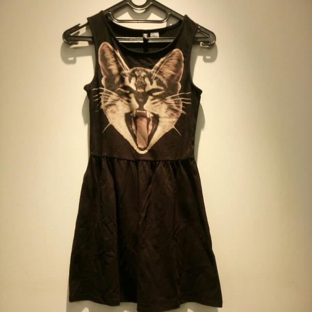 HnM Screaming Cat Dress