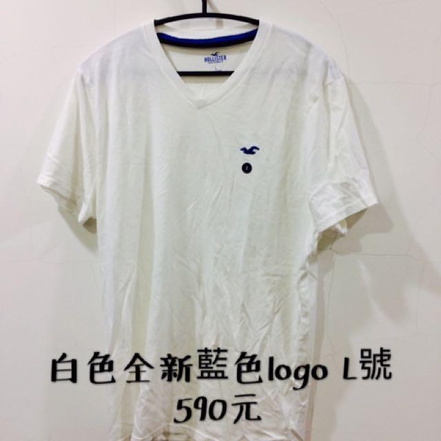 Hollister 白色全新t-shirt