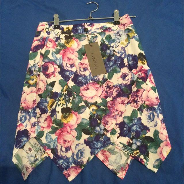 Indikah Floral Skirt XS Brand New