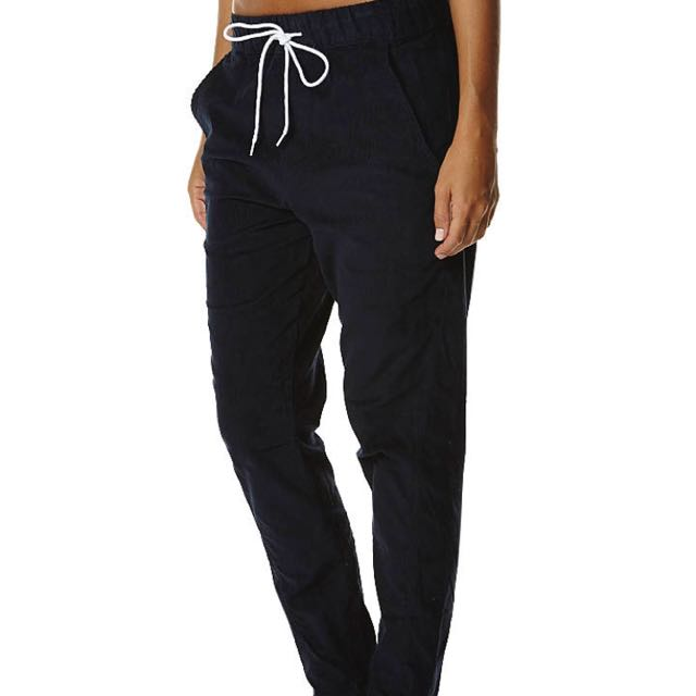 Isla Collective Navy Blue Cord Slouchy Pants