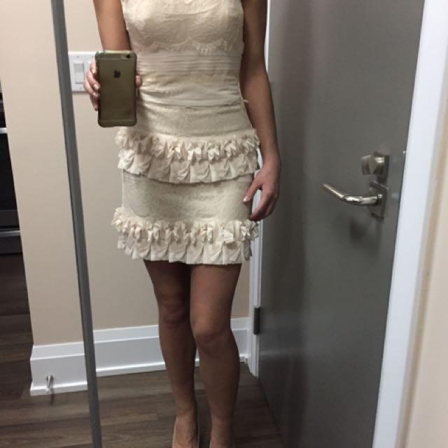 Ivory BCBG mini Dress