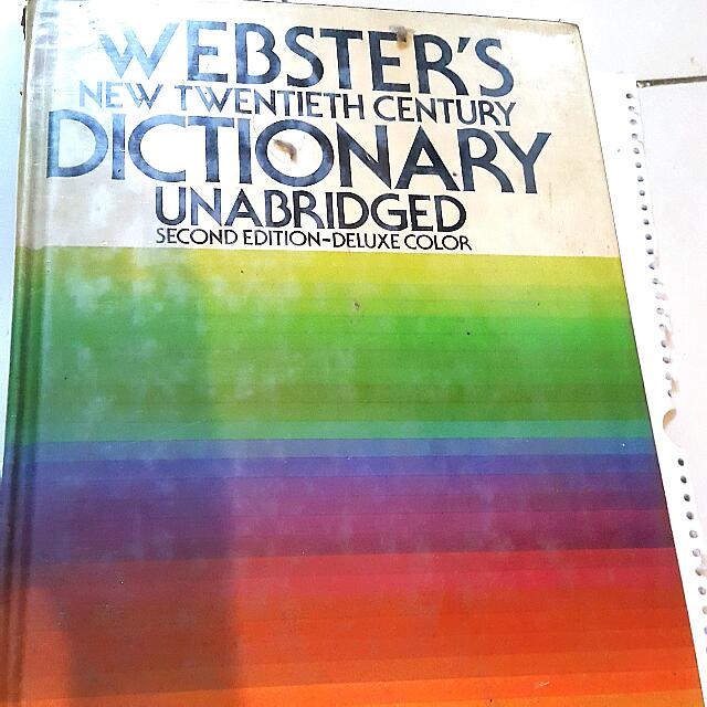 Kamus Inggris Webster New20th Century Dictionary Unabridged 2nd Edition