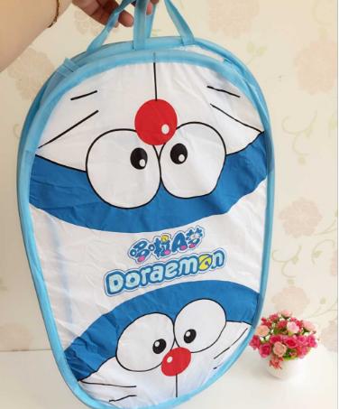 Keranjang tempat baju kotor Laundry bag motif doraemon - HHM197