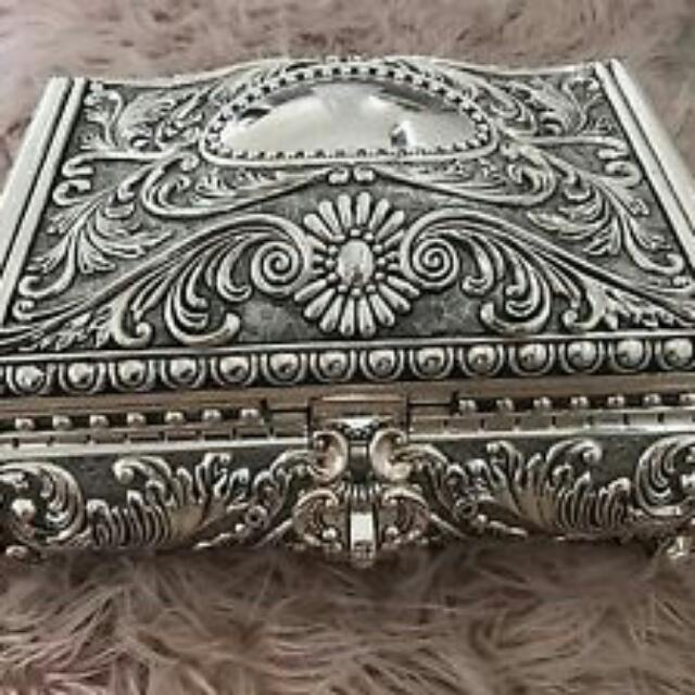 Large Silver Plated Jewellery box