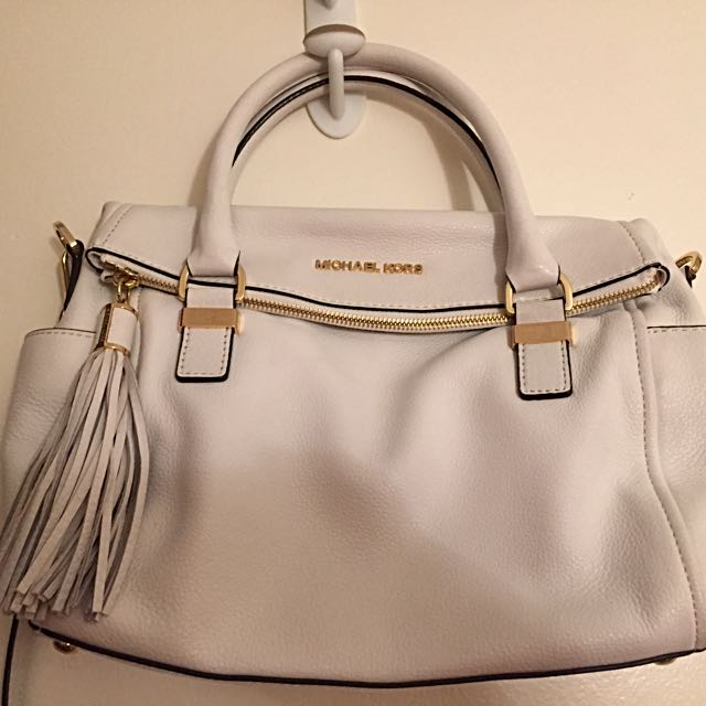Michael Kors Leather Purse - White